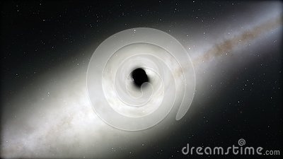 Black hole, space distortion, anomaly, high mass, this image elements furnished by NASA. Stock Photo