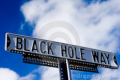 Black hole way sign