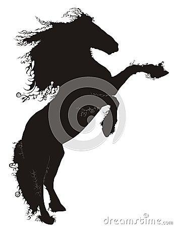 Free Black Horse Royalty Free Stock Photos - 4692938