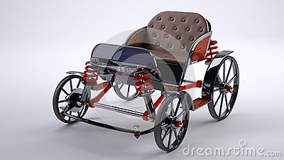 Black horse cart