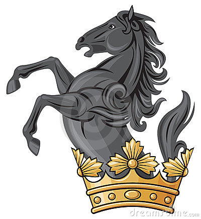 Black horse and crown