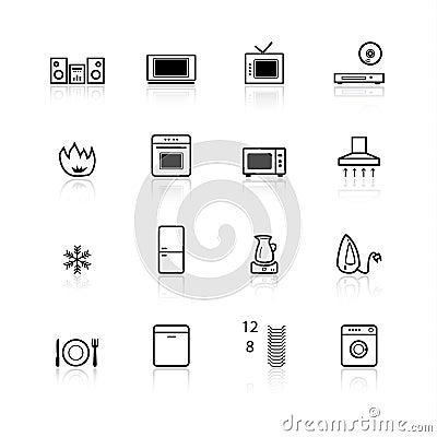 Black household appliances ico