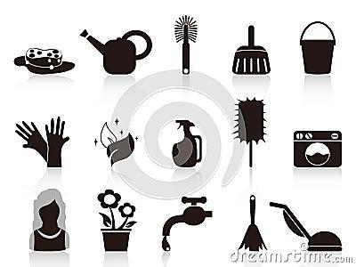Black household icons