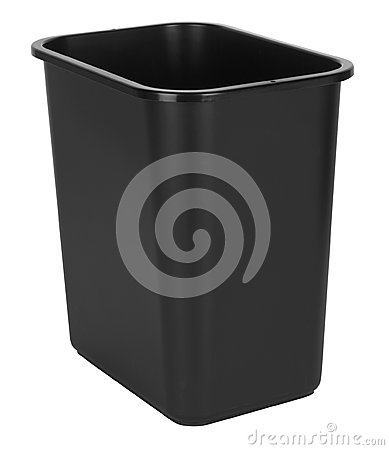 Black Indoor Waste Bin
