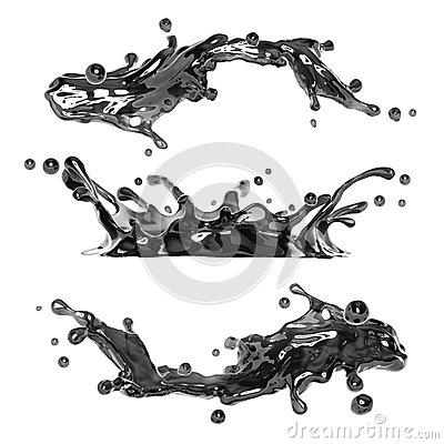 Free Black Ink Or Oil Liquid Splash Royalty Free Stock Images - 29768189
