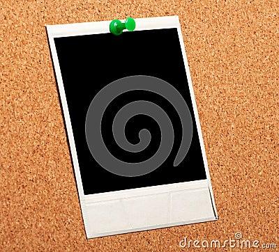 Black instant photo