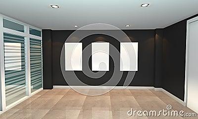 Black interior gallery