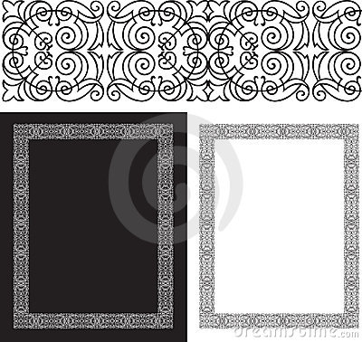 Black intricate and ornate border