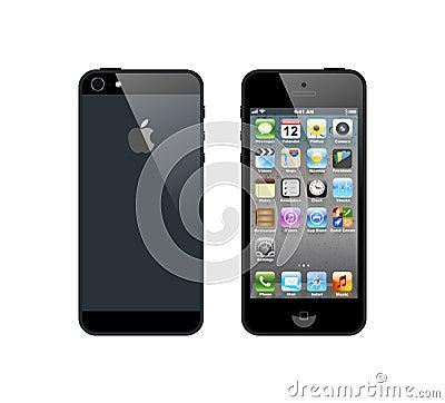 Black iPhone 5 Editorial Photo
