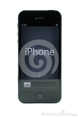 Black iPhone 5 Editorial Stock Image