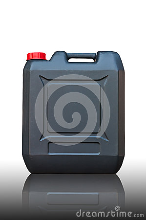 Black jerrycan isolated