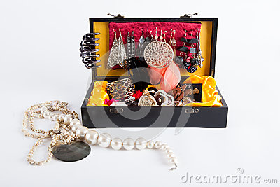 Black jewellery box
