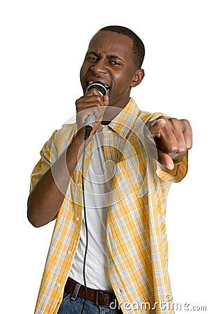 Black Karaoke Man