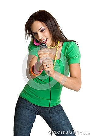 Free Black Karaoke Singer Royalty Free Stock Images - 5210189