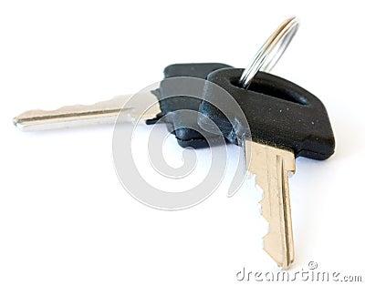 Black keys isolated on white