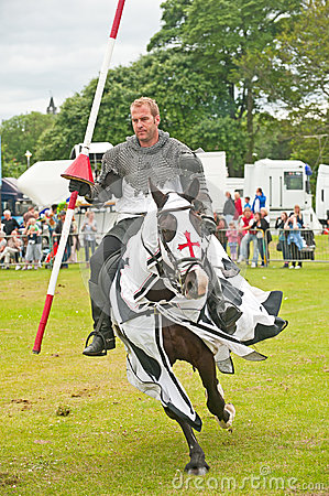 Black Knight rides by at Tain Editorial Photography