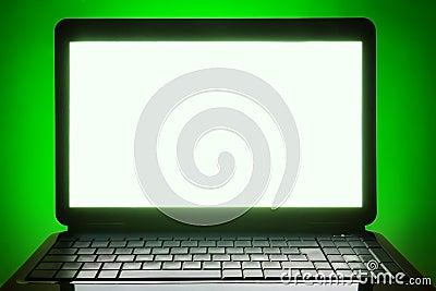 Black laptop blank screen
