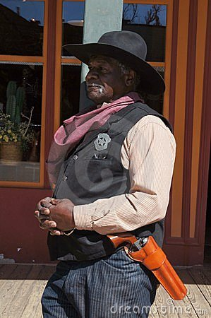 Black Lawman in Tombstone Arizona Editorial Stock Photo