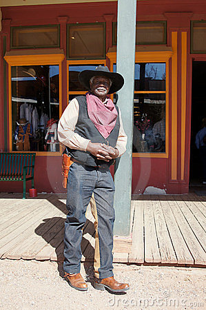 Black Lawman in Tombstone Arizona Editorial Photography