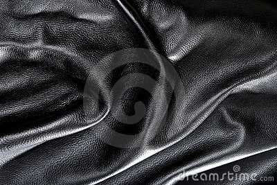 Black leather