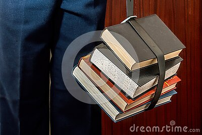 Black Leather Book Strapped Around Four Books Free Public Domain Cc0 Image