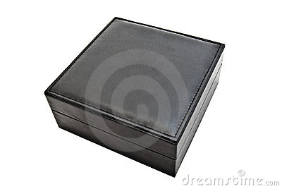 Black leather box