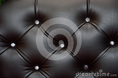 Black leather seat upholstery