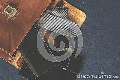 Black Leather Wallet Near The Necktie Free Public Domain Cc0 Image