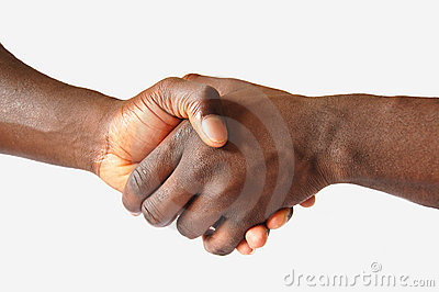 Black Left Handshake