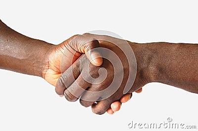Black Left Handshake