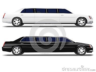 Black Limo White Limousine car transportation