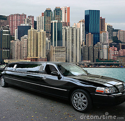 Free Black Limousine In Hong Kong Stock Images - 2809004