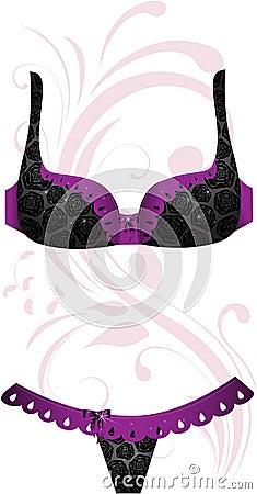 Black lingerie