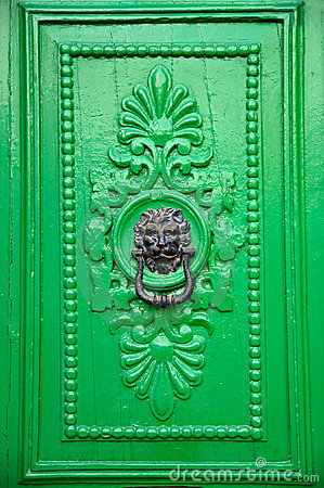 Black Lion Head Door Knocker