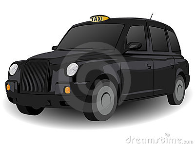 Black London Hackney Carriage