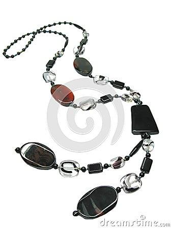 Black long beads