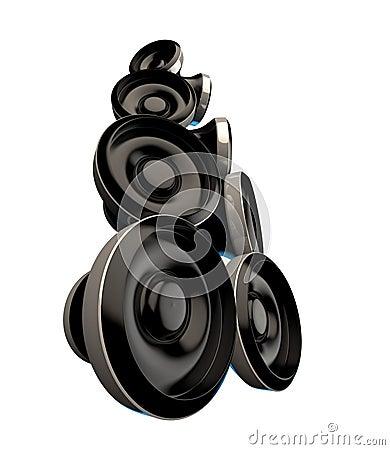 Free Black Loudspeaker Set Royalty Free Stock Images - 30791139