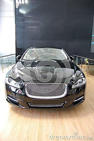 A black luxury car