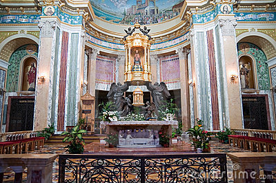 Black Madonna in the church, Sicily