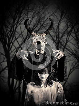 Free Black Magic Sacrifice Royalty Free Stock Photography - 39352307