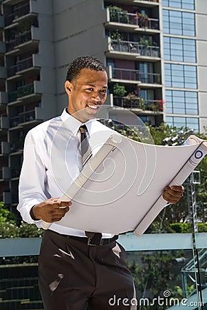 Black Male Architect Stock Photography - Image: 6125402