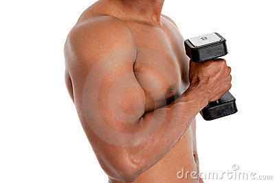 Black Male Model Holding Weights