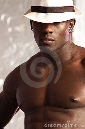 Black male portrait hat