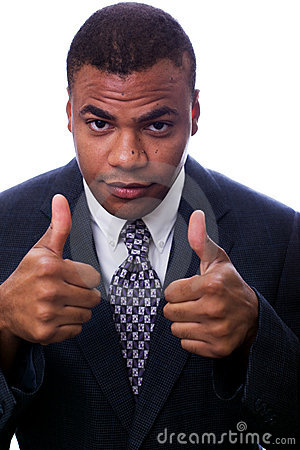 Black man giving thumbs up