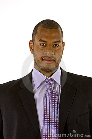 Black man in Nice Suit and Purple Shirt