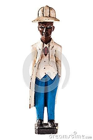 Free Black Man Statuette Royalty Free Stock Image - 37210056