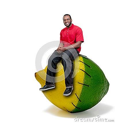 Black Man Stitched Lemon and Lime