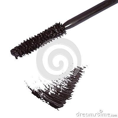 Black mascara brush stroke