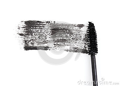 Black mascara brush stroke