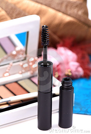 Black mascara cosmetic